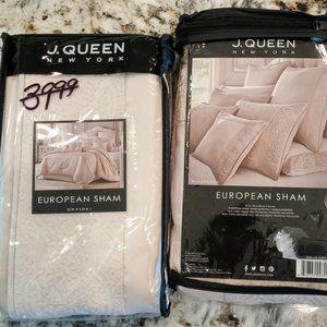 NEW J Queen Rigoletto Blush Set of 2 Euro Shams
